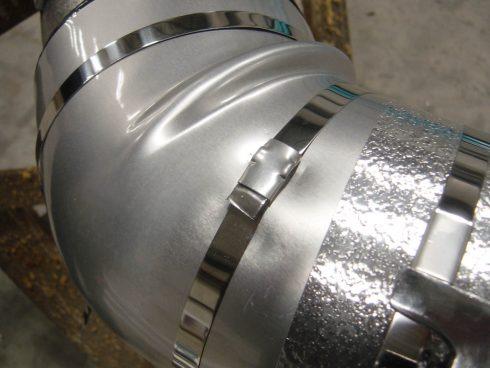 Coude coquille Urtech revêtement aluminium