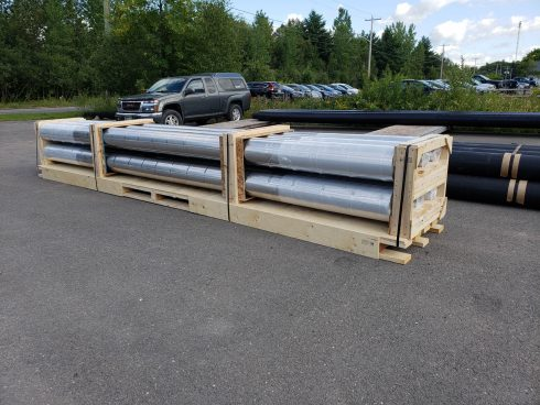 Maritime packaging - Urtech System - preinsulated pipe