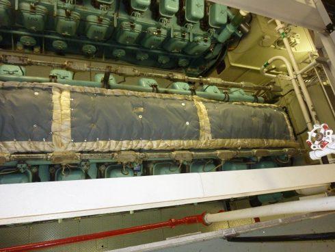 Isolation moteur navire